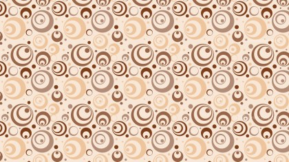 Light Brown Geometric Retro Circles Background Pattern Vector Graphic