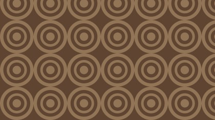 Brown Concentric Circles Background Pattern
