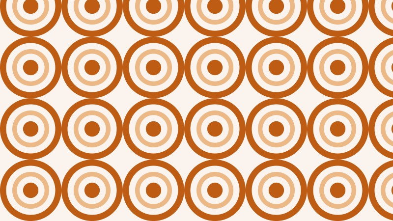Brown Seamless Concentric Circles Pattern