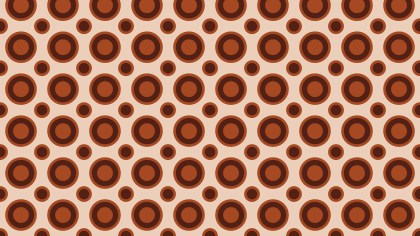 Brown Seamless Geometric Circle Pattern