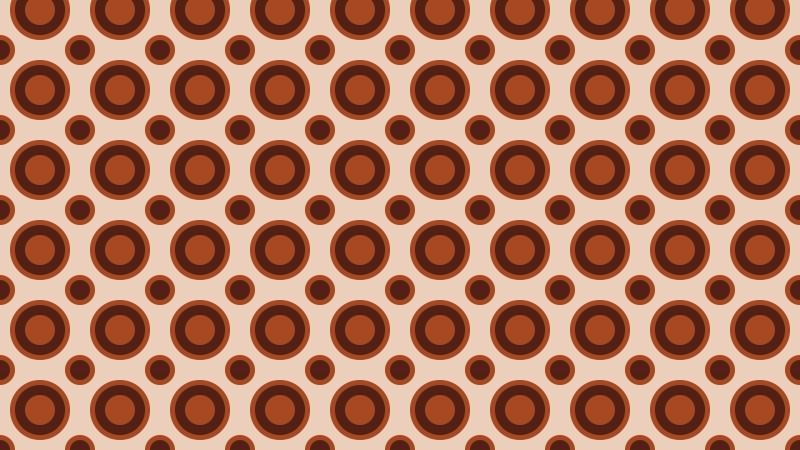 Brown Seamless Geometric Circle Pattern