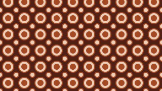 Dark Brown Seamless Geometric Circle Pattern Background