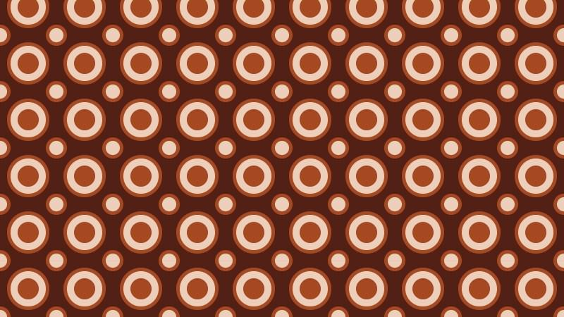 Dark Brown Seamless Geometric Circle Pattern Background