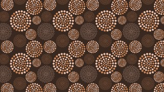 Dark Brown Dotted Concentric Circles Pattern