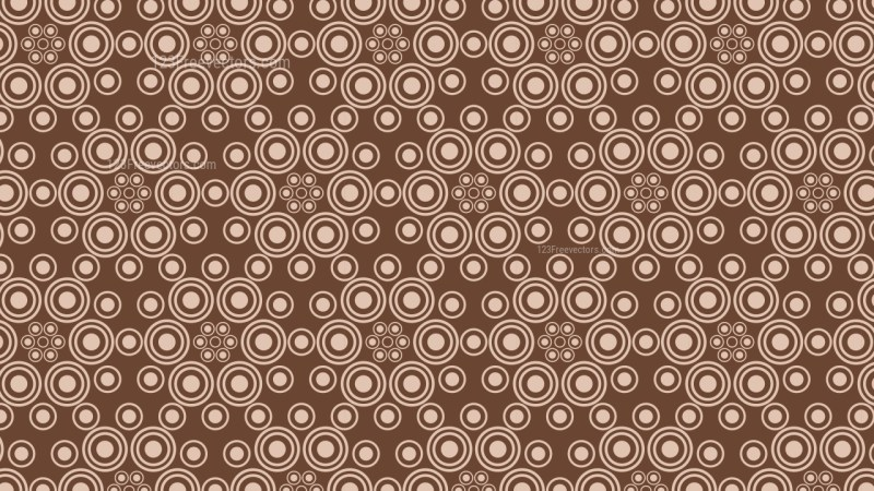 Brown Geometric Circle Pattern Background Vector Graphic