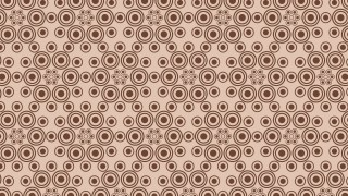 Brown Geometric Circle Background Pattern Vector Image