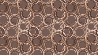 Brown Seamless Circle Pattern Illustrator