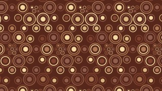 Dark Brown Seamless Circle Background Pattern Vector