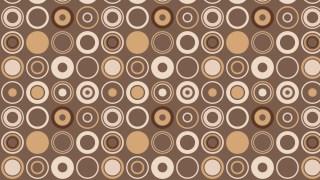 Brown Seamless Geometric Circle Background Pattern Illustration