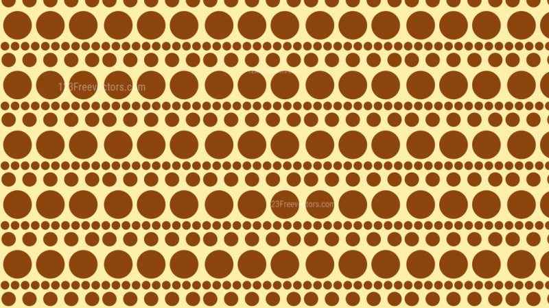 Brown Seamless Circle Pattern Background