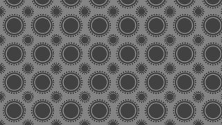Dark Grey Geometric Circle Pattern Background Vector