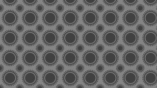 Dark Grey Geometric Circle Pattern Background Vector