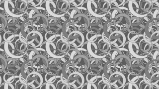 Grey Seamless Overlapping Circles Pattern Image