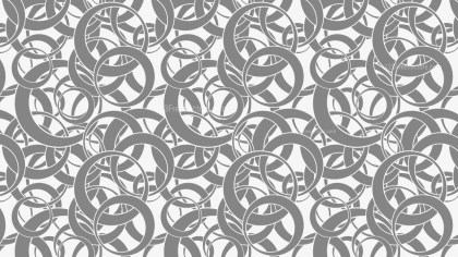 Grey Seamless Overlapping Circles Pattern Background Vector Graphic