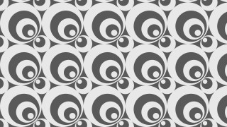 Grey Seamless Geometric Circle Pattern Background Vector Graphic