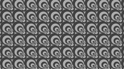 Dark Grey Geometric Circle Background Pattern
