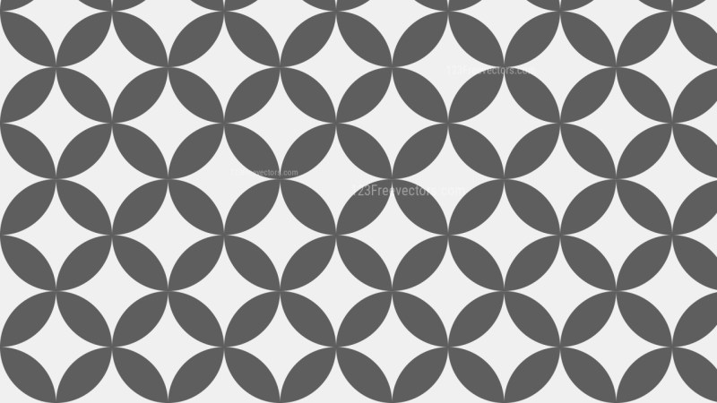 Grey Seamless Overlapping Circles Pattern