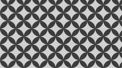 Dark Grey Seamless Overlapping Circles Background Pattern