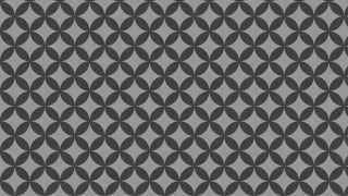 Dark Grey Overlapping Circles Pattern Design