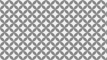 Grey Overlapping Circles Pattern Background Image
