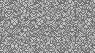 Grey Overlapping Concentric Circles Pattern