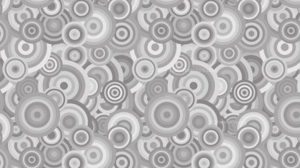 Grey Seamless Overlapping Concentric Circles Pattern