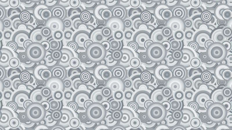 Grey Seamless Overlapping Concentric Circles Background Pattern