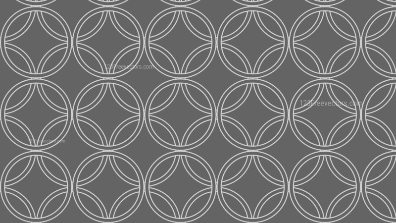 Dark Grey Overlapping Circles Background Pattern Vector Graphic