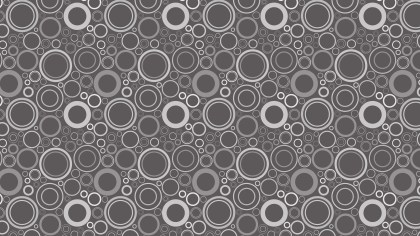 Dark Grey Seamless Circle Pattern Background