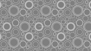 Dark Grey Seamless Geometric Circle Pattern Background