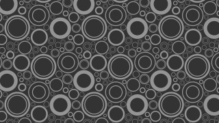 Dark Grey Seamless Geometric Circle Background Pattern