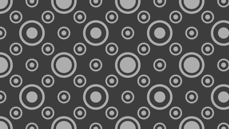Dark Grey Geometric Circle Background Pattern Image