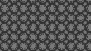 Dark Grey Seamless Circle Background Pattern Illustrator