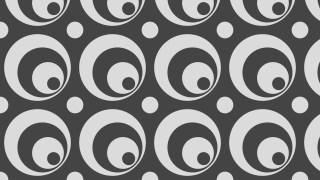 Dark Grey Seamless Geometric Circle Pattern Vector Illustration