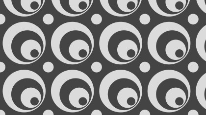 Dark Grey Seamless Geometric Circle Pattern Vector Illustration