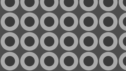 Dark Grey Seamless Geometric Circle Background Pattern Vector Art