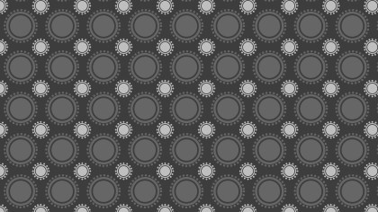 Dark Grey Geometric Circle Pattern