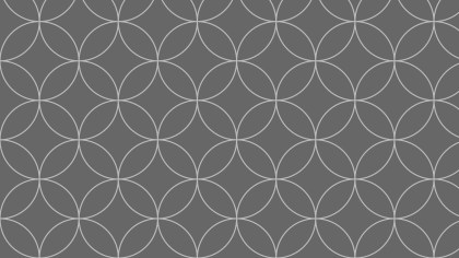 Dark Grey Seamless Overlapping Circles Pattern Background