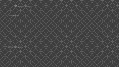 Dark Grey Overlapping Circles Pattern Vector Graphic