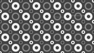 Dark Grey Seamless Circle Pattern
