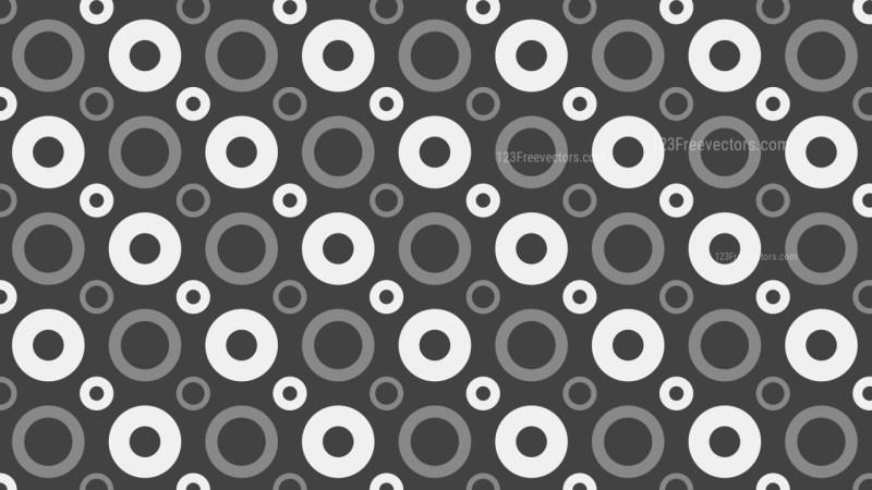 Dark Grey Seamless Circle Pattern