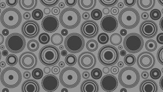Dark Grey Seamless Random Circles Pattern Background