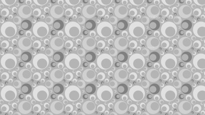 Grey Seamless Geometric Circle Pattern Background