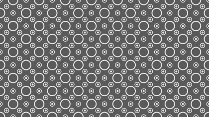 Dark Grey Seamless Geometric Circle Background Pattern Image