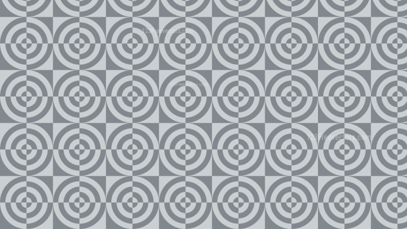 Grey Seamless Quarter Circles Pattern