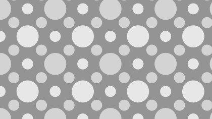 Grey Seamless Circle Pattern Background