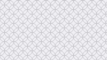 Light Grey Seamless Overlapping Circles Background Pattern Vector Art