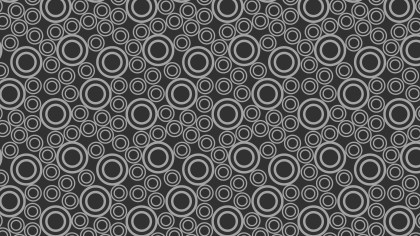 Dark Grey Circle Pattern Background Vector Illustration