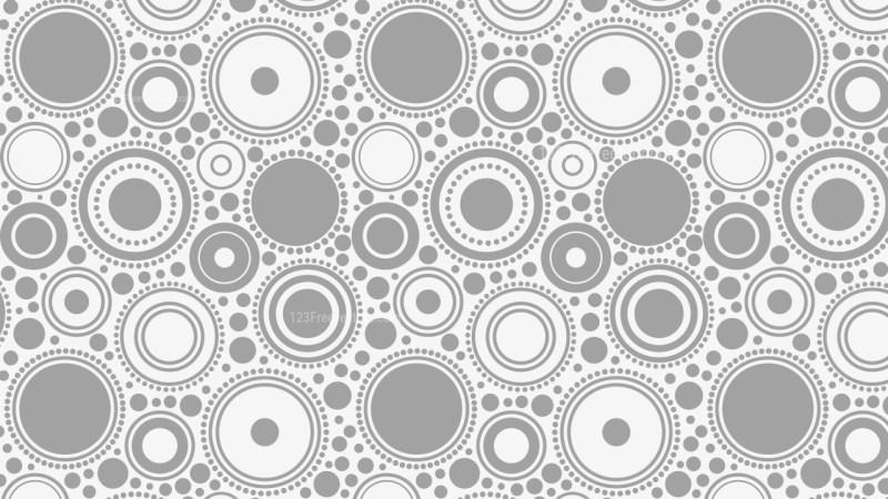Light Grey Seamless Geometric Circle Pattern Background Illustrator