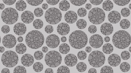 Grey Seamless Dotted Circles Background Pattern Illustrator